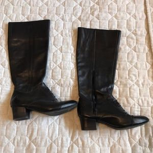 Anthropologie black boots